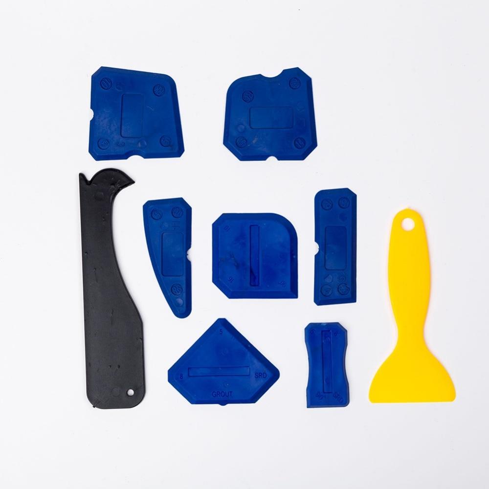 9 Pcs Caulking Tool Kit Silicone Sealant Finishing Tools