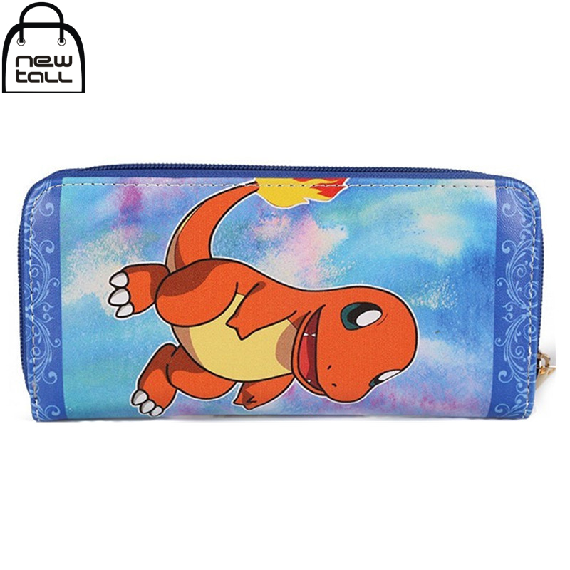 [NEWTALL] Anime Pokemon Charmander Cute Animal Long Zipper Card Holder Coin Purse Wallet 16081711
