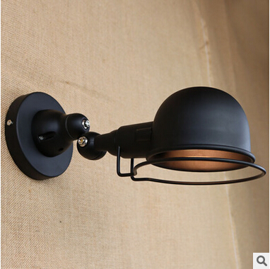 ФОТО Loft Style Rotatable Rocker Vintage Wall Lamps Edison Wall Sconces Simple Fixtures For Bar Cafe Bedside Lamp Lamparas De Pared