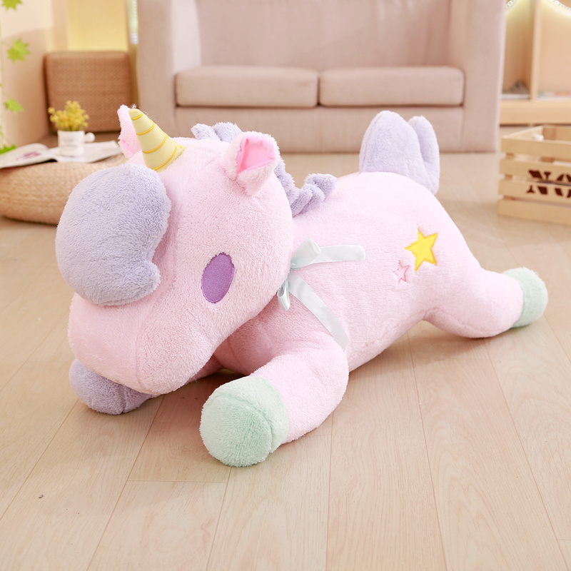 1PCS New 85cm Lovely Cartoon Unicorn Plush Toy Soft Stuffed Unicorn Horse Animals Toys Plush Doll Children Birthday Gift Kids wvw cartoon stitch soft stuffed animals toy baby doll toys for girls children birthday gift mini stuffed animals cute plush toy page 1
