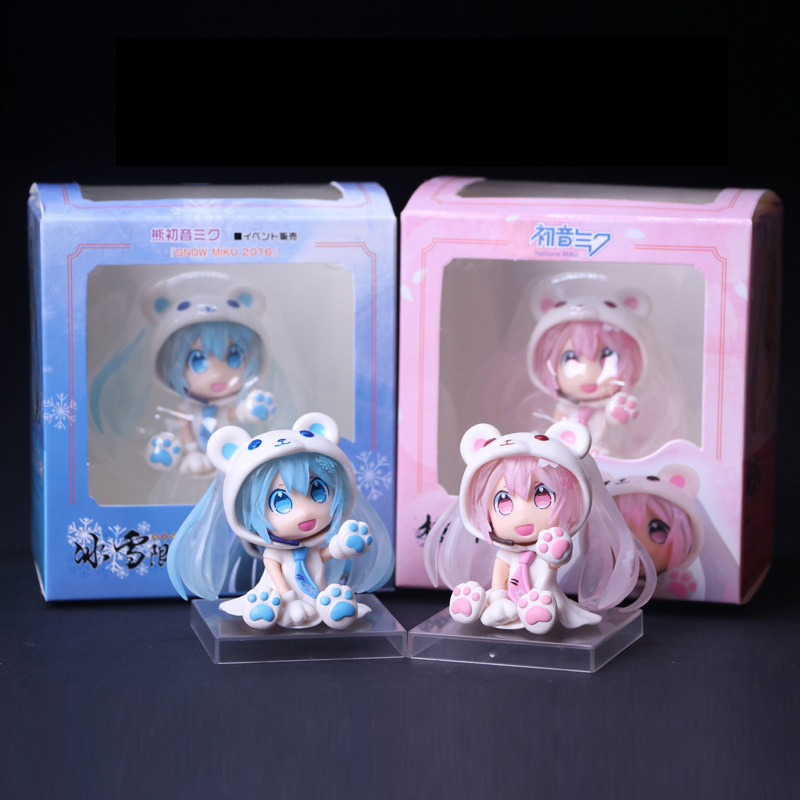 New in Box 20CM Hatsune Miku Sakura Cherry Miku Painted PVC Anime Figure Toy