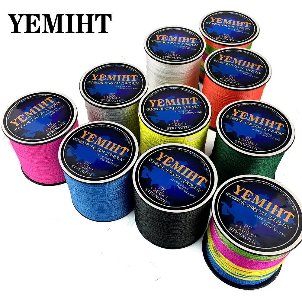 YEMIHT Carp Fishing Line 300m 500m Super Strong Japanese Multifilament PE Braided fishing line 4 Strands