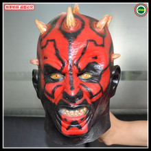 Free shipping Party Cosplay New Adult Star Wars Deluxe Darth Maul Latex Halloween Ghost Movie Face Head Mask adults in stock