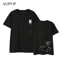 ALIPOP Kpop BTS Love Yourself Birthday Album Shirts Hip Hop Casual Loose Clothes Tshirt T Shirt