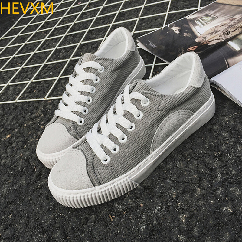 HEVXM 2017 spring new ladies fashion solid color tie canvas shoes female student ulazzang college wind casual flat shoes hevxm 2017 spring new ladies fashion casual flat bottom high white shoes women hollow comfortable breathable embroidered shoes