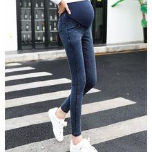 Весна Осень Новая эластичная для беременных джинсы для беременных женщин джинсы для беременных Брюки для беременных Пижама для беременных