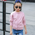 Toddler Girl Crochet Cardigans Children Solid Color Long Sleeve Bowknot Knitted Sweaters Baby Girl Sweater Autumn Kids Clothes