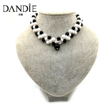 Dandie Trendy Statement Three Row Choker Necklace, Handmade Jewelry