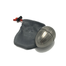 Keith Pure Titanium Creative Egg Shape Tea Strainer Scented Filter Hold Fitting Built In Teacup Mi3920