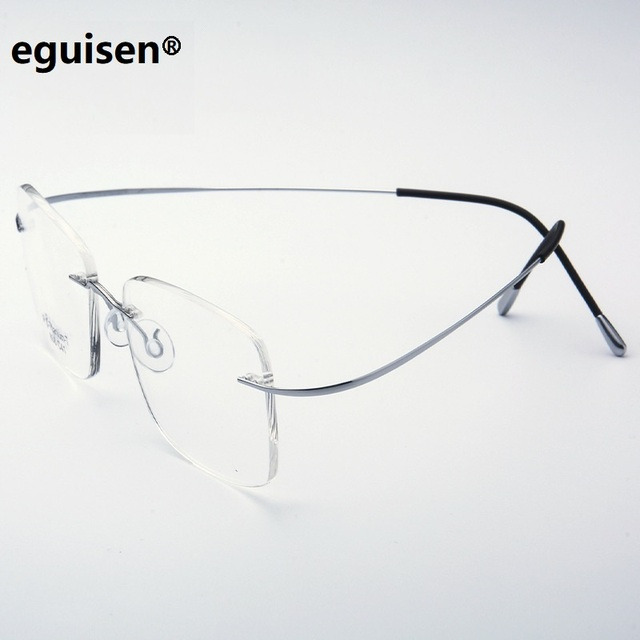 ea2e07dc8a ultra-light B titanium rimless frames men women no frame eyeglasses frames  male optical female rimless spectacle frame oculos