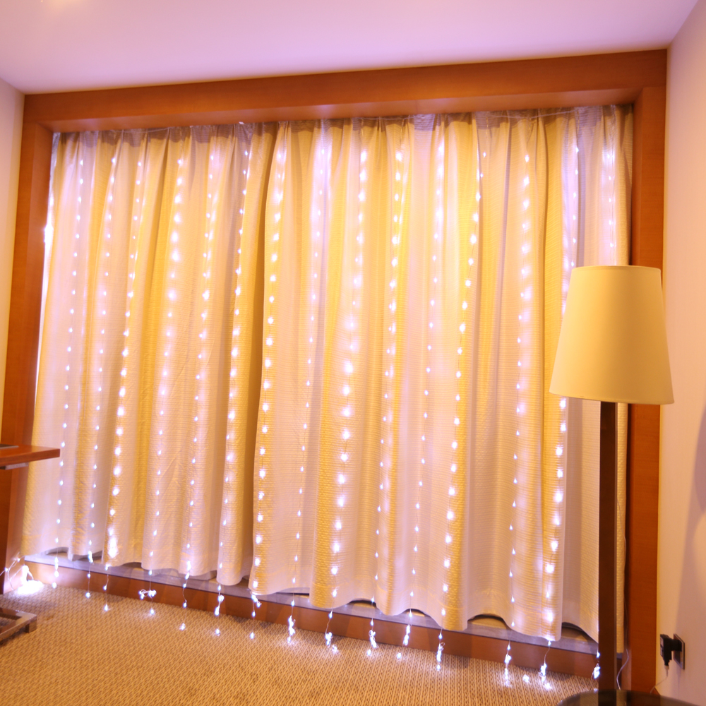 buy solla curtain lights halloween 600leds window curtain icicle lights string fairy lights linkable design 8 white from