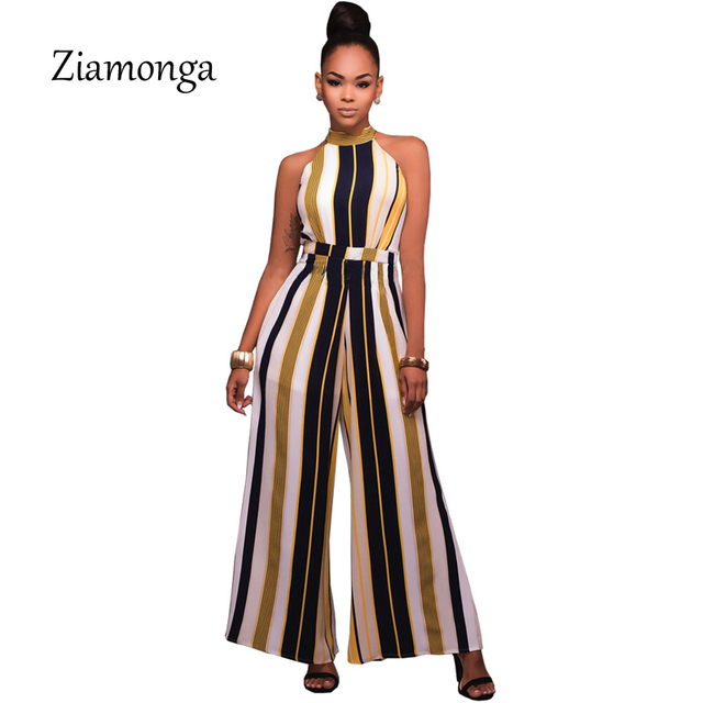 buy ziamonga wide leg elegant jumpsuit turtleneck bandage bodysuit women 2017. Black Bedroom Furniture Sets. Home Design Ideas