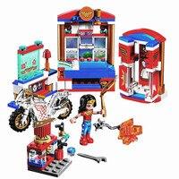 BELA DC Super Hero Girls Wonder Woman Dorm Building Blocks Classic For Girl Friends Kids Model