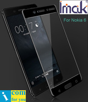 Imak Full Screen Cover Protective Tempered Glass For Nokia 6 2 5D Round Cruved Edge Oleophobic