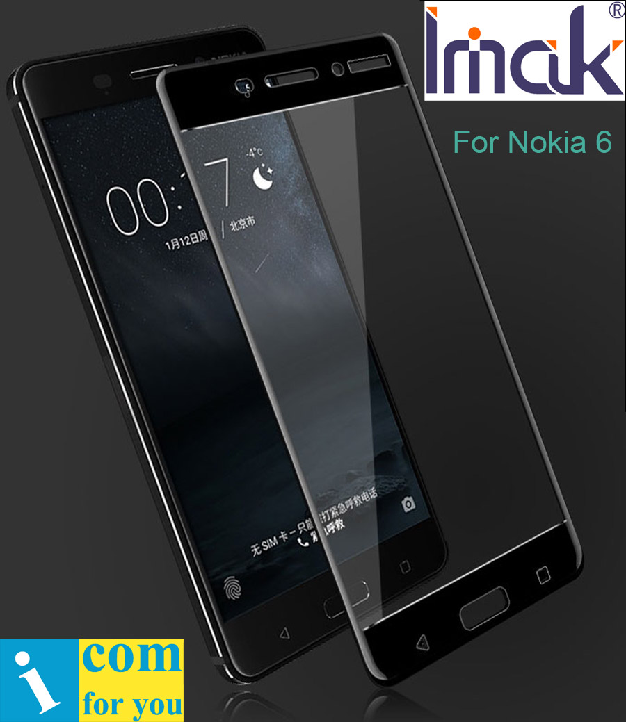 imak Full Screen Cover Protective Tempered Glass For Nokia 6 2.5D round Curved edge oleophobic