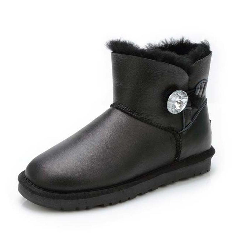 Top Quality 100% Sheepskin Leather Winter Warm Boots Waterproof Women Snow Boots Natural Fur Women Fashion ankle boots
