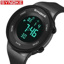 SYNOKE NEW Mens Watch Clock Men Wrist Watches Student swimming watch 50 meters waterproof multi-function Sport Digital