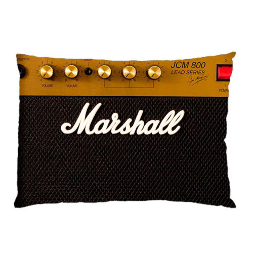 Novelty Marshall AMP Pillowcase Funny Marshall Pillow Case Cover Rectangle Music Guitar Zippered Soft Gift Two Sides 20x30 inch regalos para un guitarrista
