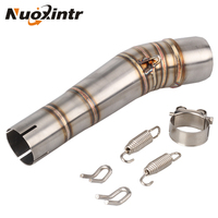 NUOXINTR Motorcycle Exhaust Middle Link pipe For HONDA NC700 NC750X NC750 NC700S 2012 2017