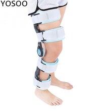 Rodillera Rom con bisagras ajustable fijación quirúrgica estabilización fractura soporte rodilla artrosis proteger aleación de aluminio + Nylon