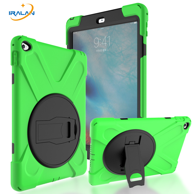 New Durable Rugged Kids Protector Case For Apple iPad Air 2 Heavy Duty Silicone Hard kickstand Cover For iPad 6+stylus pen+film hot case for ipad 5 cover shockproof kids protector case for apple ipad air case air1 cover pc silicone hybrid robot stylus pen