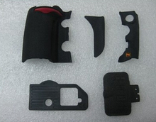 Free Shipping! D700 5 PIECE FRONT/REAR/ GRIP RUBBER with USB rubber SET NEW REPAIR PARTS OEM For NIKON