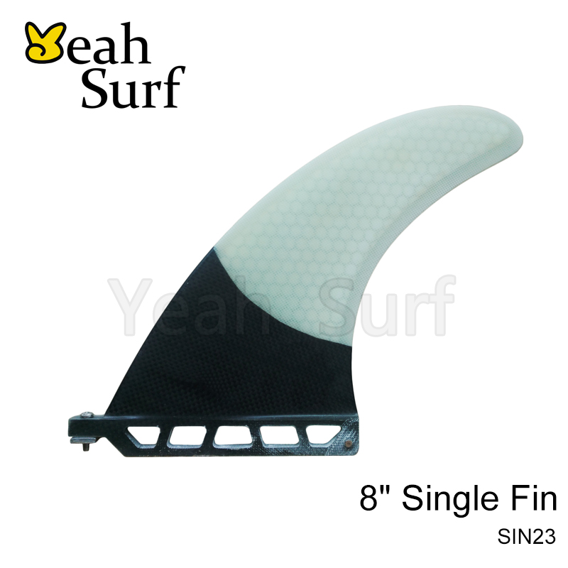 SUP Fin Longboard Surf Fins White 8 Length Fibregalss Barbatana Surf Fin Surfboard Fins stand up paddle