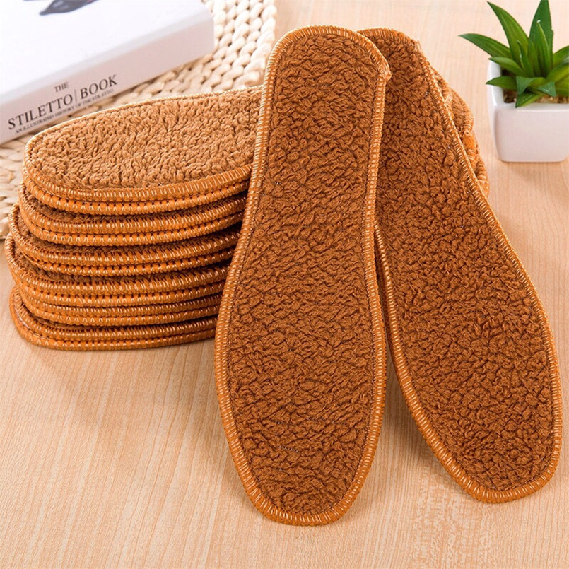 Dashing 1 Pair Alpaca Velvet Plush Warm Insole Men And Women Thermal Shoes Insoles Snow Boots Fur Insoles