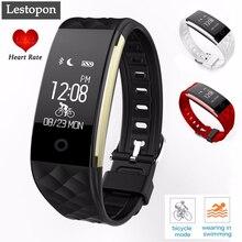 Lestopon bluetooth4.0 смарт браслет группа пульс фитнес-трекер шагомер смарт браслет для huawei xiaomi android ios
