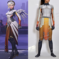 High Quality Mercy Cosplay Costume Set Spandex Mercy Zentai Suit Cosplay Mercy Costume