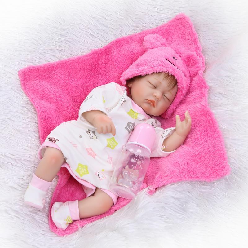 NPK 40 см Bebe Reborn Спящая девочка куклы 16 дюймов Реалистичная мягкая силиконовая Bonecas Близнецы кукла Детские brinquedos Для новорожденных игрушки