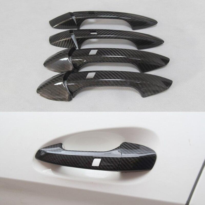 Couvercle de poignée de porte en Fiber de carbone pour Benz A B C E S GLA GLK CLA CLS GL GLS classe W176 W246 W218 R176 W204 W117 W212 X156 X166