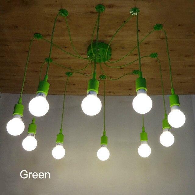 diy lighting fixtures gypsy decor retro classic pendant lamps colorful e27 spider light bulb holder group edison diy lighting fixtures free