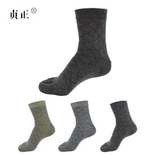 4 пара осень-зима теплые Стиль орнамент unisx Для мужчин Для женщин пять пальцев натуральный хлопок носок 4 цвета