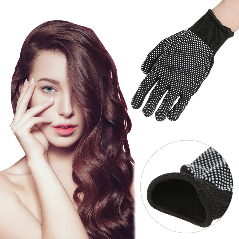 2pcs Heat Resistant Protective Glove Hair Styling For Curling Straight Flat Iron image