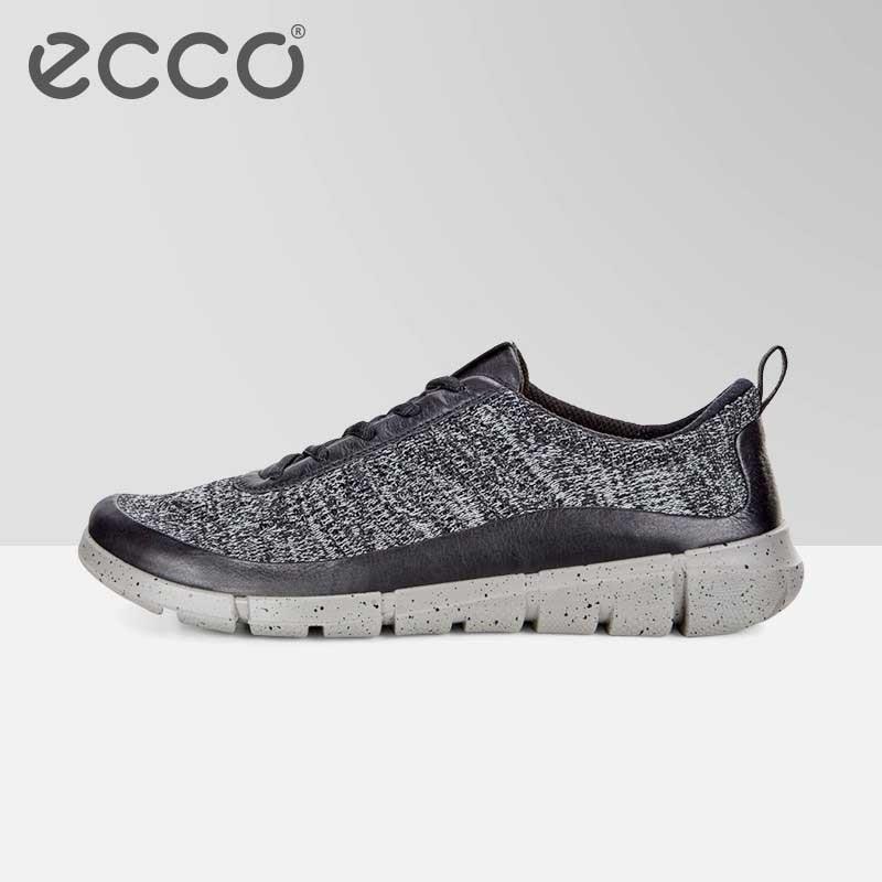 Été ECCO chaussures décontractées hommes marque mouche tricot respirant hommes baskets appartements maille sans lacet mocassins poids léger chaussures 860004