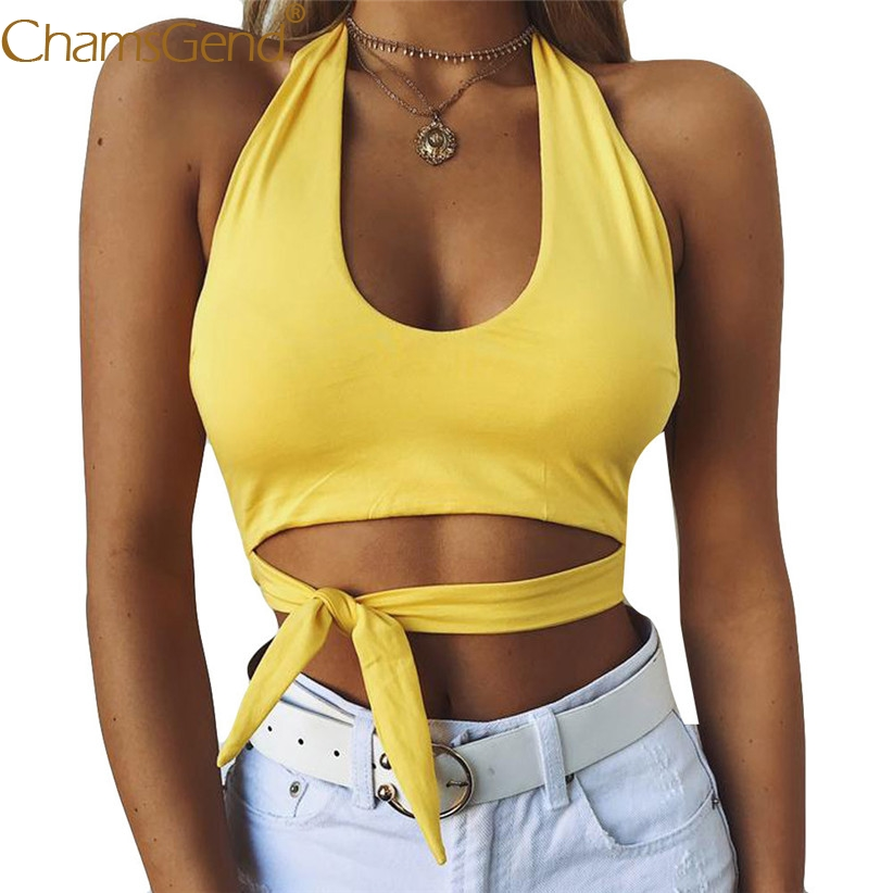 07c8a5c8ce5 Chamsgend Shirt Newly Design Women Sexy Halter Crop Top Skinny Tight  Bandage Bra Wrap Tank Top Lady Blouse Shirts 80313-in Tank Tops from Women's  Clothing ...
