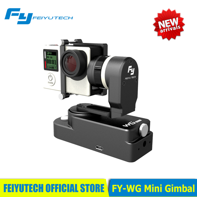 IN STOCK Feiyu Tech FY-WG Mini 2 Axis Wearable Gimbal for Gopro 3 3+ 4 Camera PK Zhiyun Rider M Feiyu WG  Free Shipping