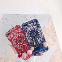 Sexy Lace Chinese Hmong Style Soft Silicone Mobile Phone Cases For IPhone8 8Plus Protective Shell 3D