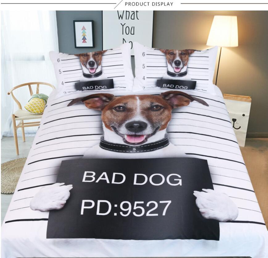 Großhandel New 3d Bad Haustier Hund Kinder Bettwäsche Set Us / Au ...