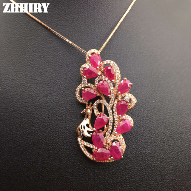Natural Ruby Necklace Genuine Gem Pendant Precious Stone Woman Fine Jewelry Solid 925 Sterling Silver Ladys LuxuryNatural Ruby Necklace Genuine Gem Pendant Precious Stone Woman Fine Jewelry Solid 925 Sterling Silver Ladys Luxury