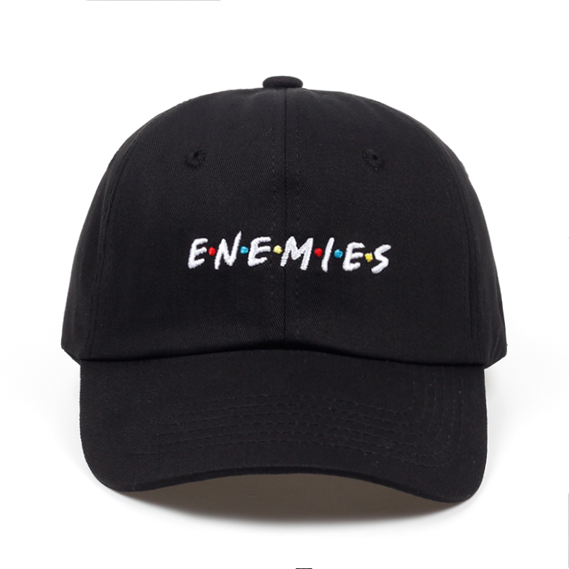 2018 new Frenemies Enemies Baseball Cap Curved Bill Dad Hat 100% Cotton fashion snapback Hip-hop cap hats wholesale wholesale women men fashion snapback cap hat new design custom novelty sport baseball cap girl boy hip hop camouflage visor hats