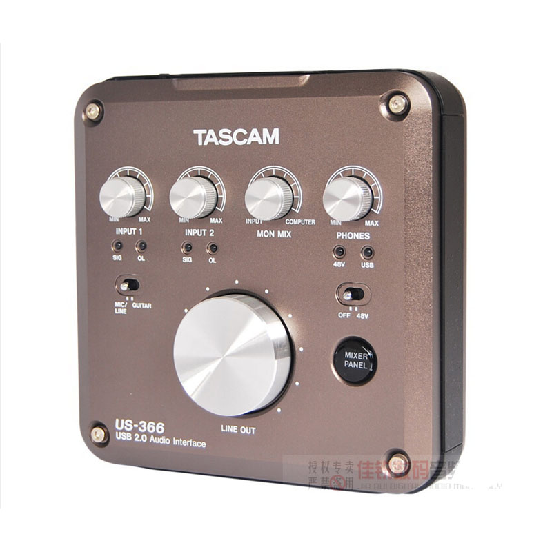 TASCAM US-366 US366 professional voice recorder USB audio recorder interface recording sound with microphone amp