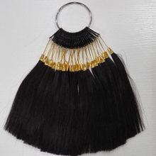 6 дюймов человеческих цвет волос кольцо для салона цвет волос график свет естественный черный цвет можно изменить любой цвет