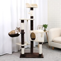 Cat's Tree Pet Scratching Post Kitten Climbing Post Tree Cat Furniture Scratching Cat Pet Jumping Trees Playing Exercise Toy