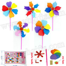 15PCS LOT Handmade 6 color windmill Outdoor toys Foam crafts Family fun Early educational toys Wholesale