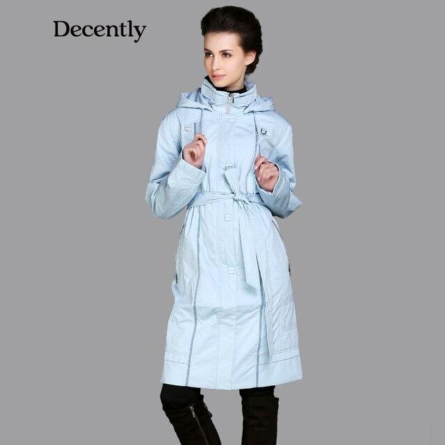 DECENTLY 2015 новынка женский синтепон длинный модный с капюшоном тёплый бренда куртка высокое качество бесплатная доставка синтепон DC-3C1842