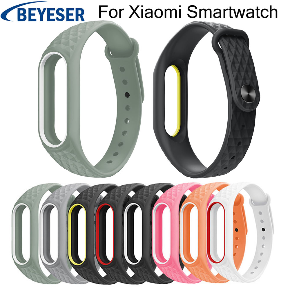Watchbands Strap For Xiaomi Mi Band 2 Silicone Rubber Replacement Bracelet Watchbelt For Xiaomi Mi Band 2 Smart Sport Watchstrap