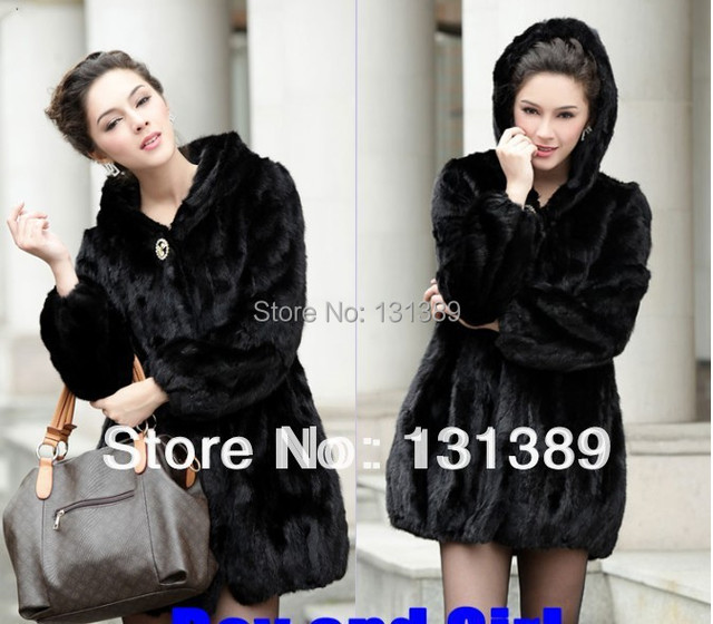 05d78d7745854 Free Shipping Topshop Plus Size Fur Coats Faux Fur Coat With Hood Genuine Mink  Coats Outerwear Women s Fur Coats