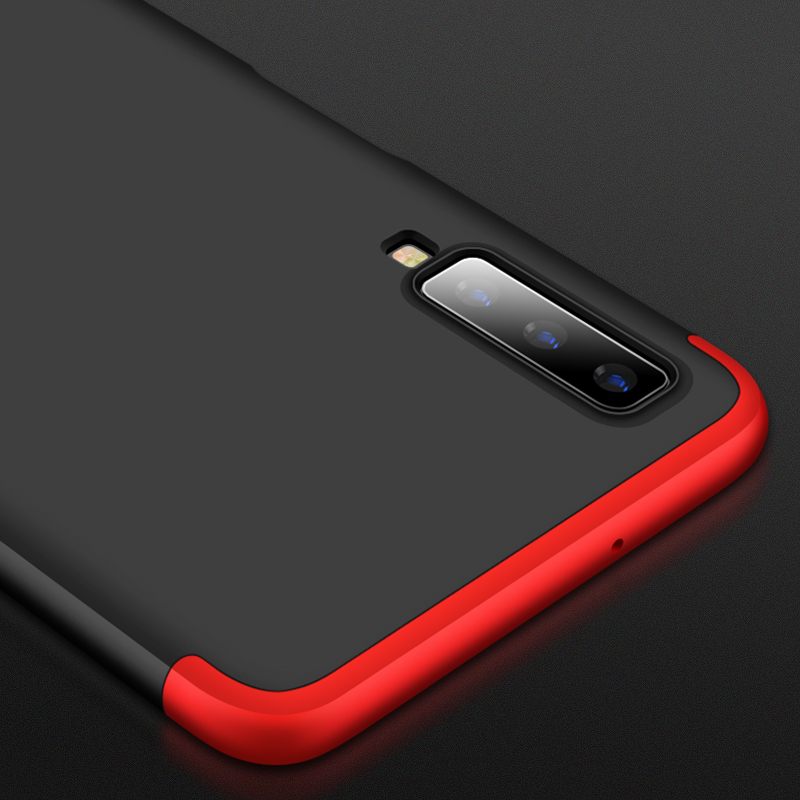 360 Full Protection Case For Samsung Galaxy A7 2018 Slim Hard PC Plastic 3 In 1 Back Cover for Samsung A7 2018 A750 phone cases in Fitted Cases from Cellphones Telecommunications